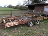 SORRY SOLD Car Trailer/transporter in need of some attention