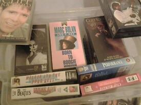 Collection of VHS Music Videos.