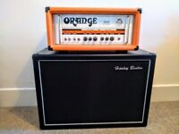 TH30 guitar amp head and 2x12 cab with Orange Footswitch