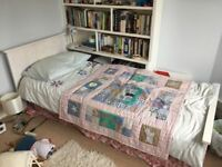 John Lewis single bed. Mattress not included. White. Good condition.