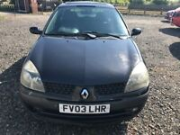 RENAULT CLIO DIESEL 1.5 BLACK 3 DOOR 2003 £645 WE TAKE PART EX CHANGE