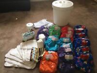 24 Totbots reusable nappies