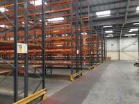 30 bays of dexion pallet racking 4.6 meters high ( storage , shelving )