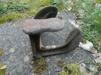 Blacksmith Antique Cast Iron Cobblers triple Shoe last