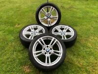 BMW 400M STYLE GENUINE ALLOY WHEELS 18 INCH WITH GREAT TYRES - 3 OR 4 SERIES F30