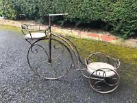 Garden potter bike with bucket that fits on the back
