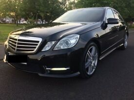 MERCEDES BENZ E220 CDI AMG SPORT 4 DOOR SALOON BLUE EFFICIENCY 2013 (13) REG