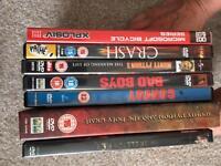 An assortment of DVDs