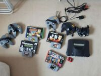 Nintendo 64 incl. Games and controllers