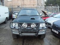 2001 Mitsubishi L-200, 2.5TD 4 Life, 4WD, Green&Silver Double Cab, Diesel, Manual