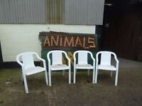 White Garden Chairs Ideal For Use at Christmas Delivery Available £5