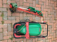 QUALCAST LAWNMOWER Hover Electric 1500 Watts + STRIMMER - USED ONCE