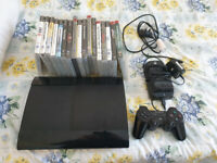 PS3 super slim with 17 games