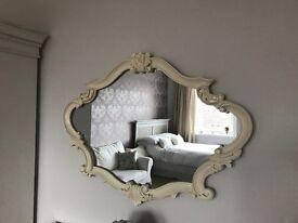 Shabby chic Ornate Cream Mirror in excellent condition