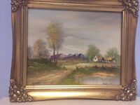 Perfect Condition Framed Signed Water Painting