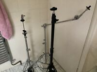 3 cymbal stands