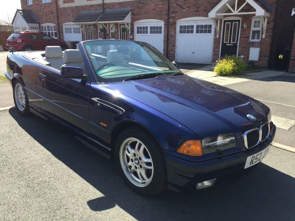 1997 Bmw E36 328i Convertible Orient Blue Grey Leather 113k Miles Clic Not M3