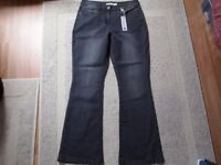 New Ladies Grey Stretched Bootcut Jeans size 12 (The Collection by Debenhams)