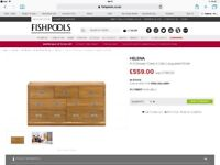 Fishpools Helena Oak bedroom furniture - 6 different size chests