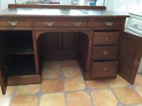 Mahogany study desk