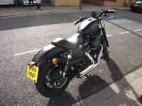 2015 Model Harley-Davidson Sportster XL883N Iron, Vance & Hines Exhaust, 5,319 miles, Denim Black