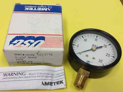 Ametek Usg - Pressure Gauge - 30 Psi - 14 Npt - New