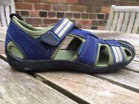 VGC Vegan Pediped Flex Sahara washable Adventure sandal. Size 11.5-12 UK. Blue & green. RRP £38