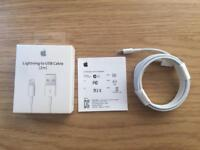 Lightning to USB cable 2 metre Brand new and Boxed