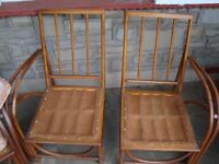 VINTAGE RETRO LUSTYCRAFT SIMILER TO ERCOL 2 CHAIRS AND SOFA SOFA COMES APART LOOKS