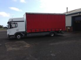 Mercedes atego curtainside box