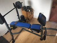 Marcy Starter Weight Bench with 40+kg set, Black, One Size (Dumbbells inc.)