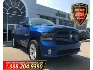2015 Ram 1500 Sport| Leather/Cloth| Sunroof| Remote Start