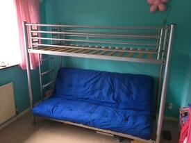 Double Pull Out Futon Bunk Bed