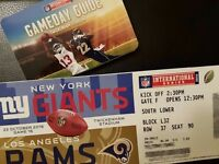 Two tickets for Rams vs Giants @ Twickenham, 23 October