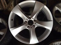 "BMW 19"" alloys, twisted 5 spoke (1 is new, 5 used with tyres)"