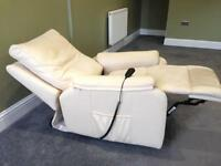 Like new leather motorised recliner chair