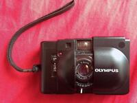 olympus XA with flash and pouch
