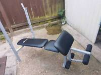 Weight Bench And Bar with weights