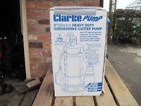 "Clarke Pump. Heavey Duty Submersible Cutter Pump 2"" (50mm)"