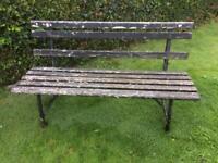 Rustic & vintage garden bench