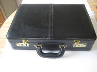 Black attaché case