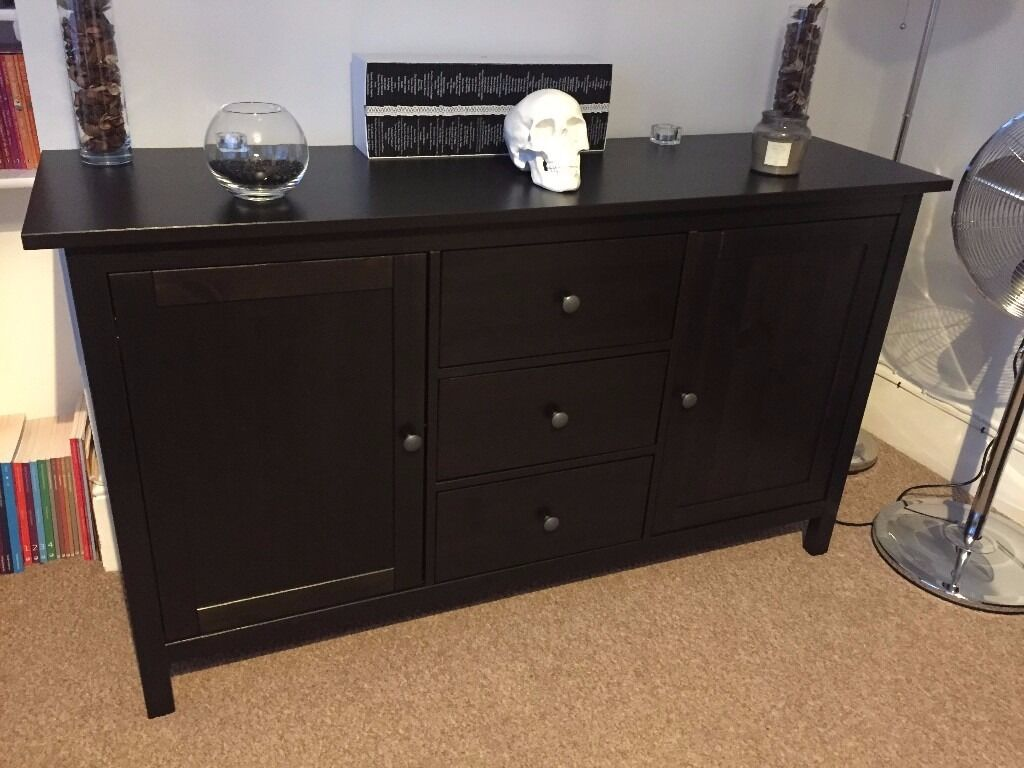 ikea hemnes sideboard black brown in woodford london gumtree. Black Bedroom Furniture Sets. Home Design Ideas