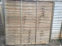 4 x OVERLAP FENCE PANEL (W)1.8M (H)1.8M - £18 - £20 in B&Q/Wickes/Homebase just £24 for the joblot