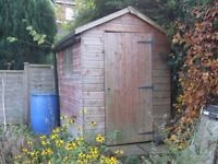"""GARDEN SHED - WOODEN 6'10"""" X 4'10"""" OVERALL SIZE"""