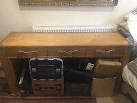 Oak and leather desk by Halo was £950 sell £200
