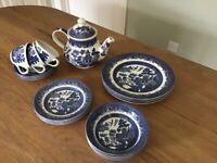 Churchill Willow blue and white china