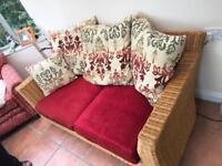 Rattan conservatory sofa