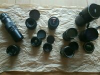 Collection of Vintage Camera Lenses