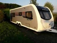 Touring twin axle caravan