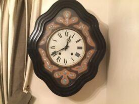 French vineyard wall clock